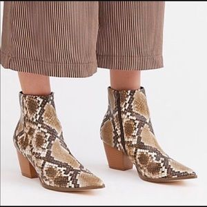Free People Snakeskin Going West Boots